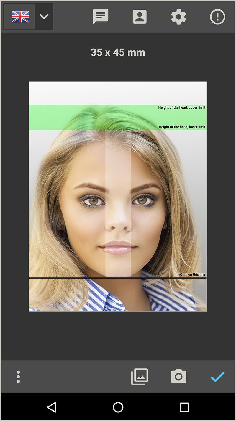 Create a passport photo for UK Passport (Android App)