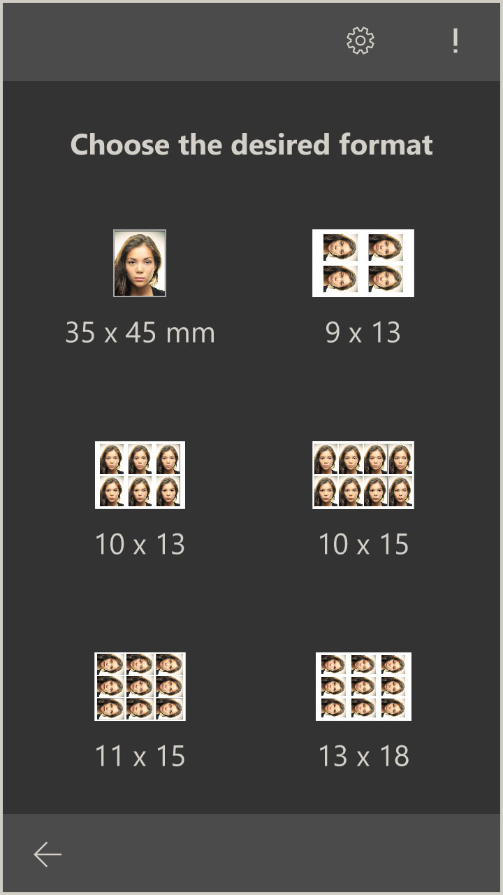 Multiple passport photos on a photo format (Windows 10 App)